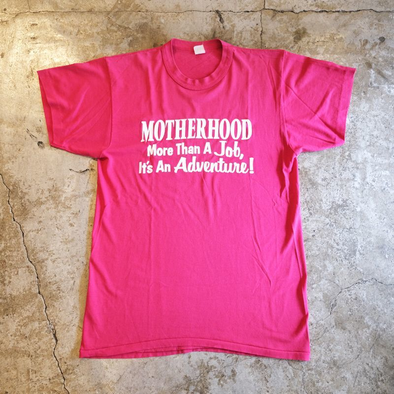 "画像1: OLD ""MOTHERHOOD"" DESIGN PRINT TEE / Ladies L (1)"