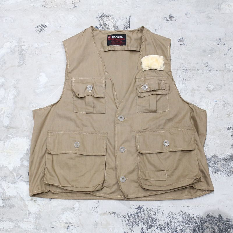 画像1: OLD DESIGN FISHING VEST / Mens L (1)