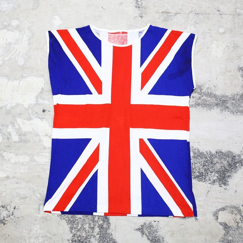 画像1: UNION JACK PATTERN N/S TEE / Mens M (1)