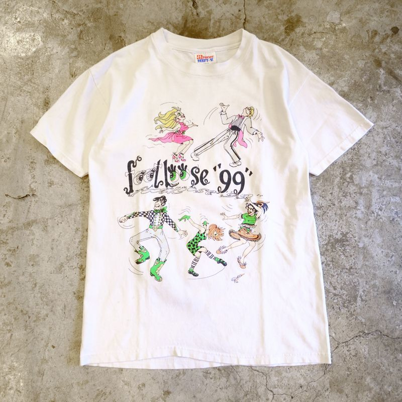 "画像1: 90's OLD ""FOOT LOOSE"" PRINT TEE / Ladies L (1)"