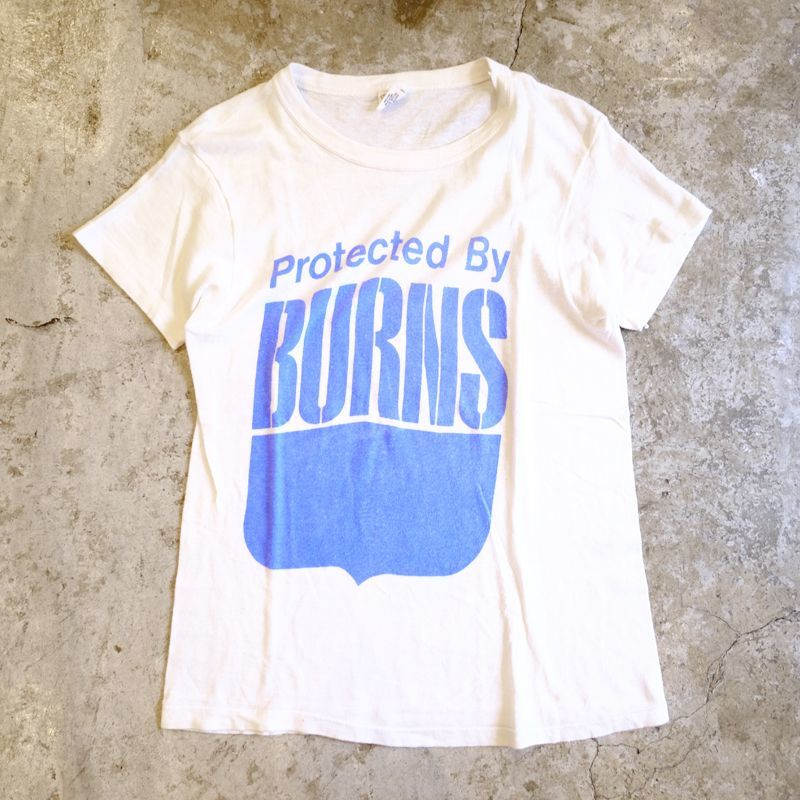 "画像1: OLD ""BURNS"" PRINT TEE / Ladies L / MADE IN USA (1)"