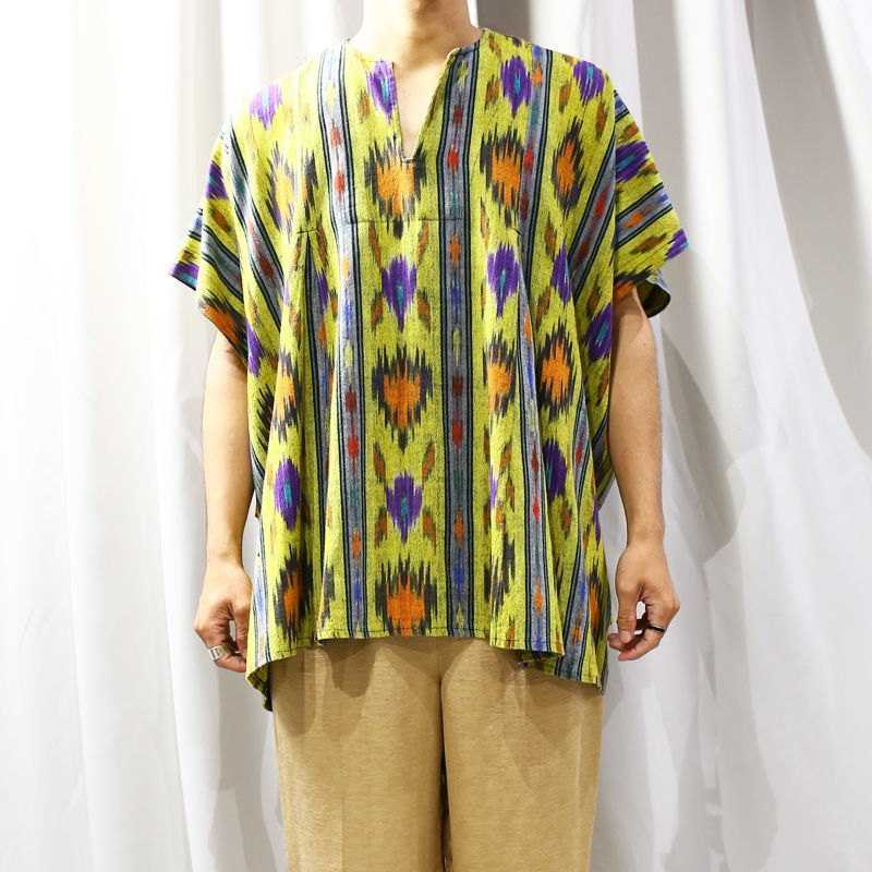 画像1: NATIVE PATTERN OVER TOPS / FREE (1)