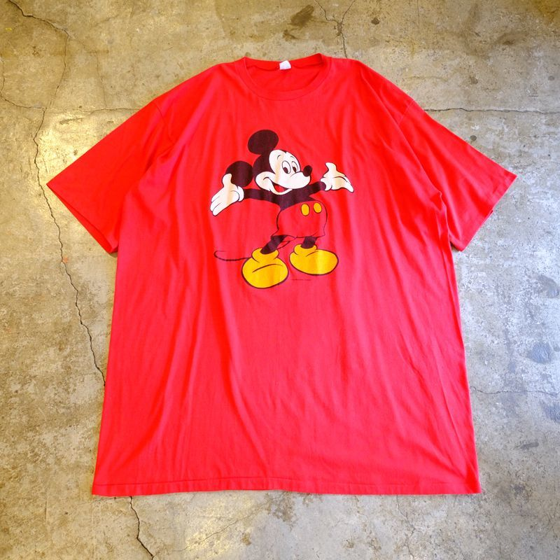 画像1: OLD MICKEY PRINTED TEE ONE-PIECE / Ladies XL / MADE IN USA (1)