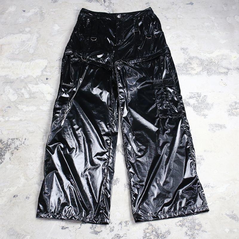 画像1: 2WAY GIMMICK PVC WIDE PANTS / W31 (1)