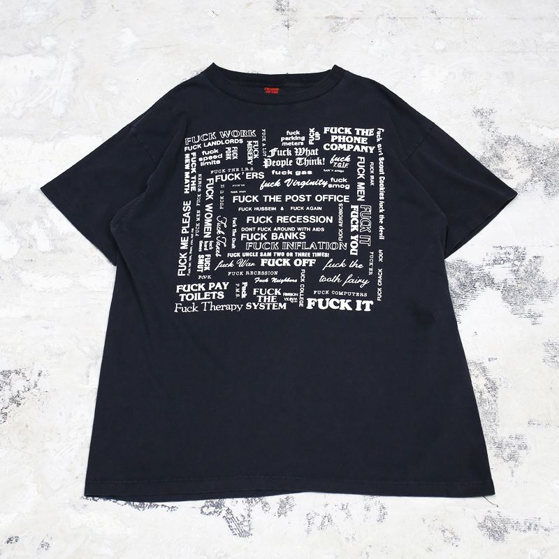 "画像1: 80's OLD ""F*CK"" TEE / Mens XL / MADE IN USA (1)"