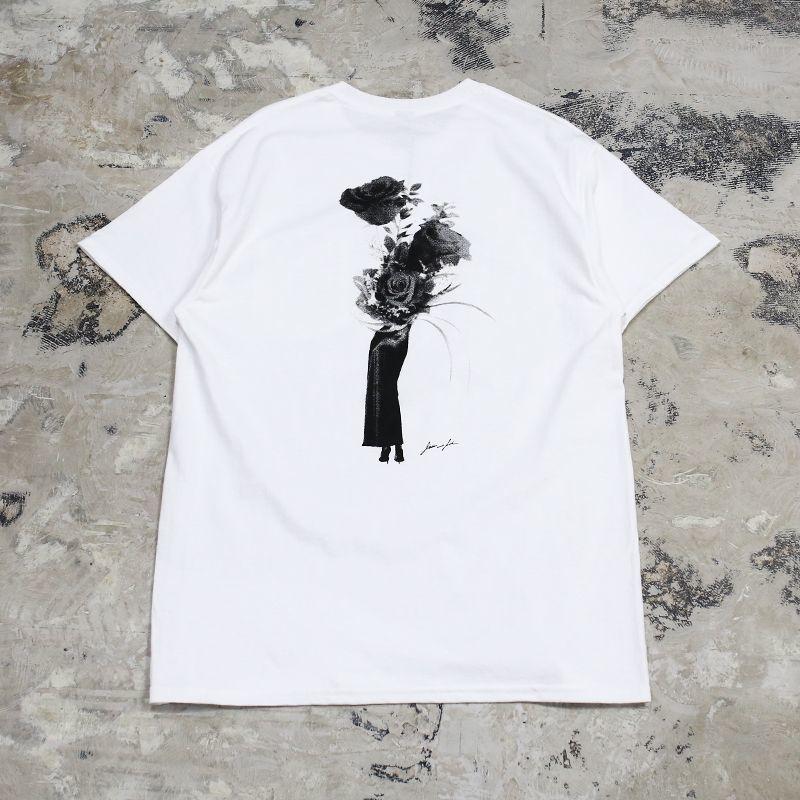 画像1: 【JESUS AND JOHN】FLOWER LEG ROSE T-SHIRTS / M&L / WHITE (1)