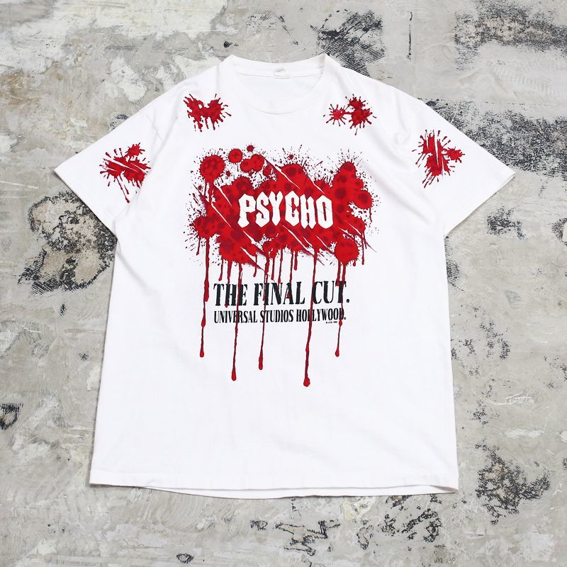 "画像1: 90's ""PSYCHO"" GRAPHIC PRINTED TEE / Mens L / MADE IN USA (1)"