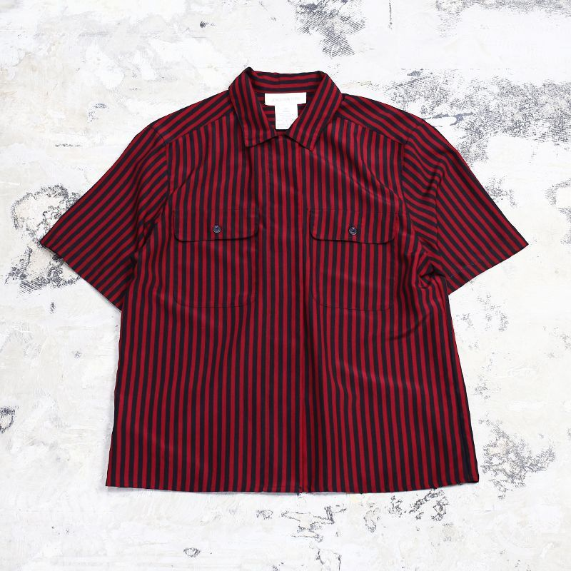 画像1: STRIPE PATTERN S/S SHIRT / Mens M (1)