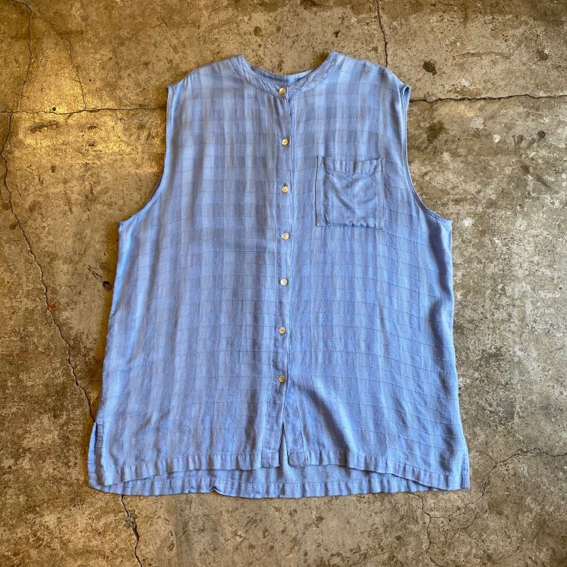 画像1: CHECKER FLAG N/S SHIRT VEST / Ladies XL(L) (1)