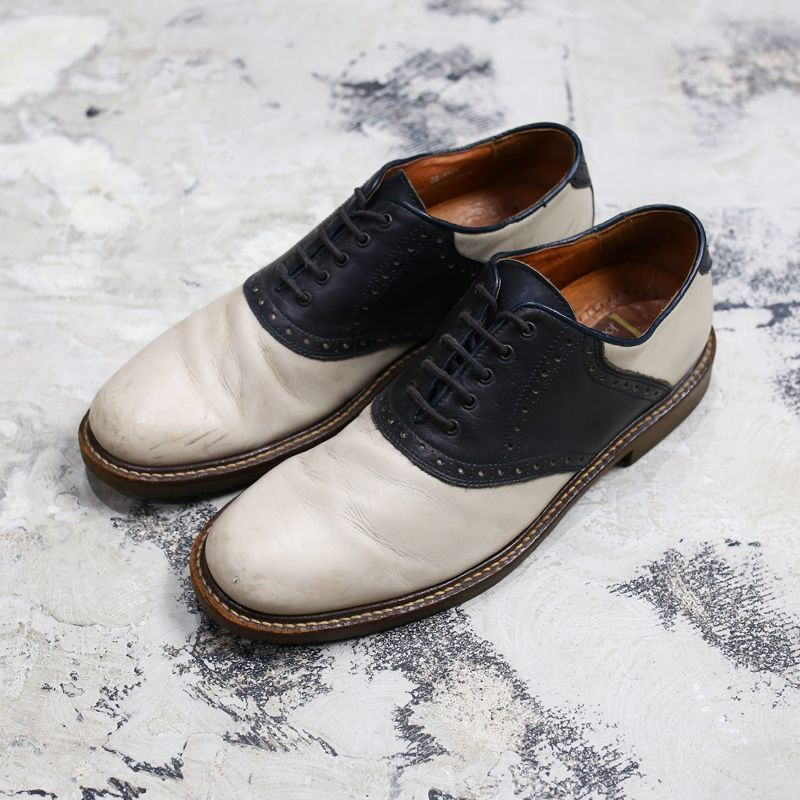 画像1: 【JOHNSTON&MURPHY】LEATHER SADDLE SHOES / US10 / MADE IN ITALY (1)