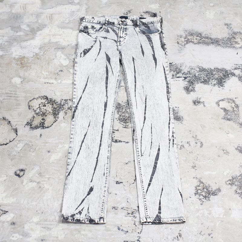 画像1: BLEACHED PATTERN PANTS / W35 (1)