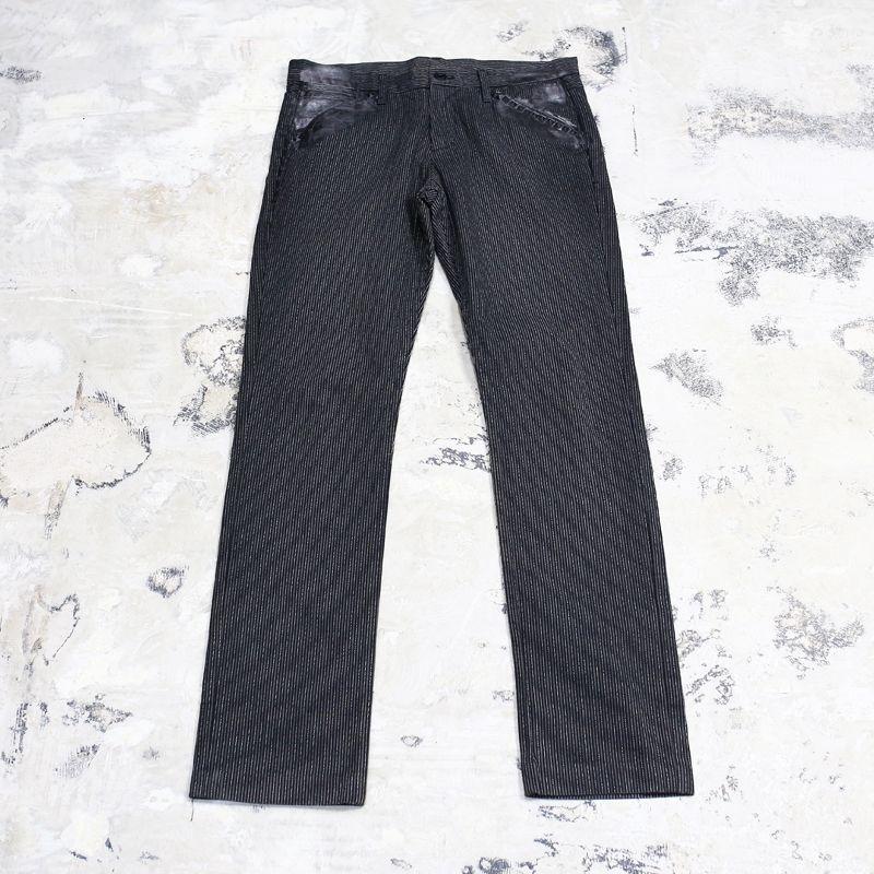 画像1: STRIPE PATTERN DECORATION PANTS / W35 / MADE IN USA (1)