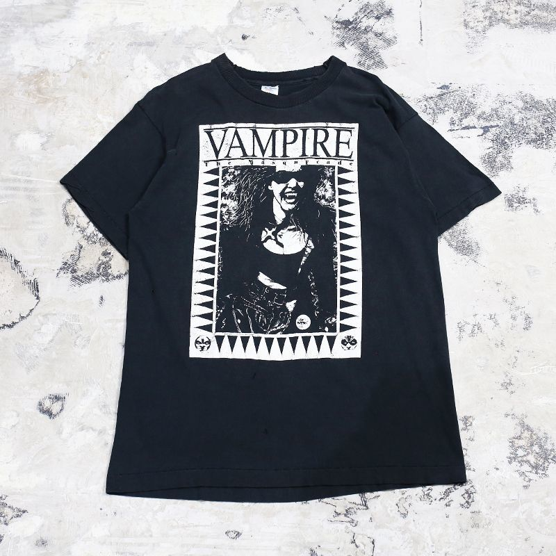 "画像1: 90's ""VAMPIRE"" PRINTED S/S TEE / Mens L / MADE IN USA (1)"