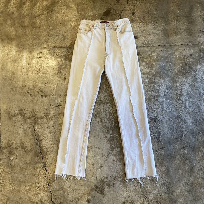 画像1: 【Wiz&Witch】FLARE CUT DENIM PANTS / W28 (1)