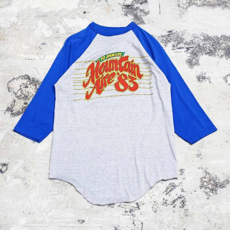 "画像1: 80's ""MOUNTAIN AIRE"" RAGLAN TEE / Mens L / MADE IN USA (1)"