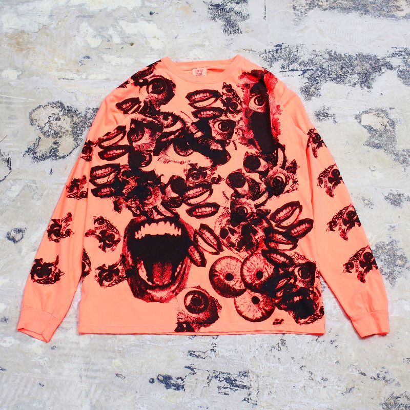 画像1: 【JESUS AND JOHN】CHAOS L/S T-SHIRTS / ORANGE (1)