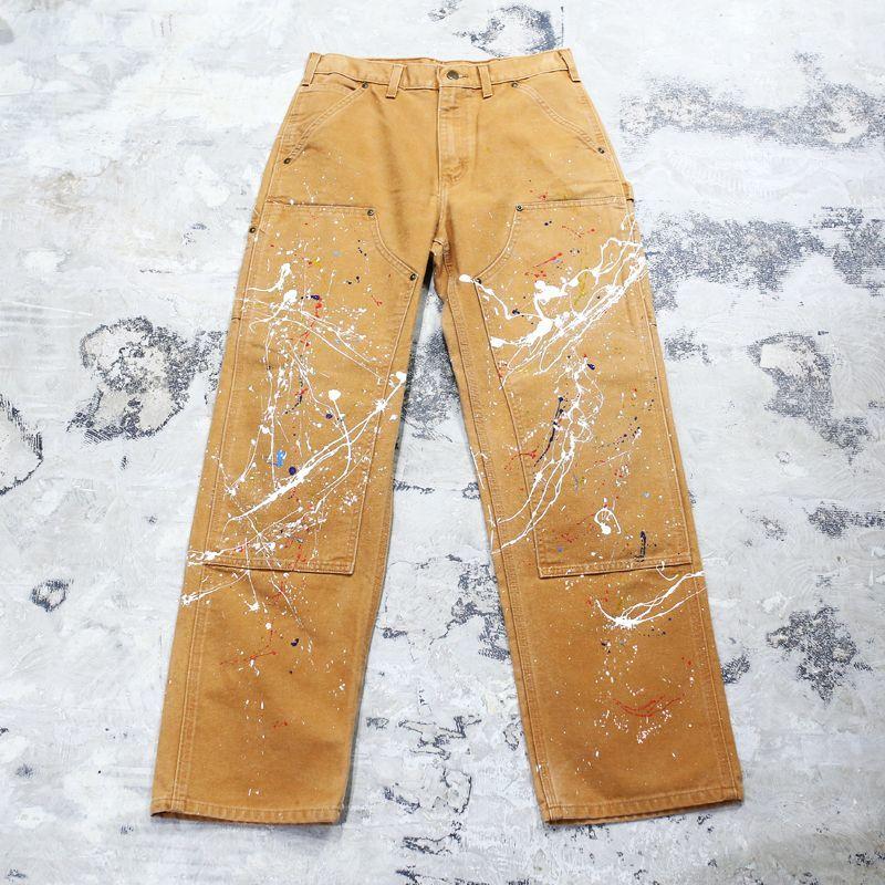 画像1: 【CARHARTT】PAINTED DOUBLE KNEE PANTS / W31 (1)