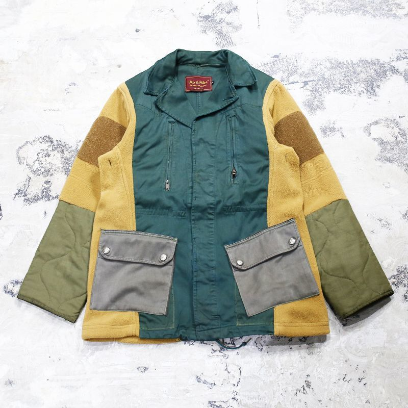 "画像1: 【Wiz&Witch】""UNITED"" MIX FABRIC MILITARY JACKET / OS (1)"