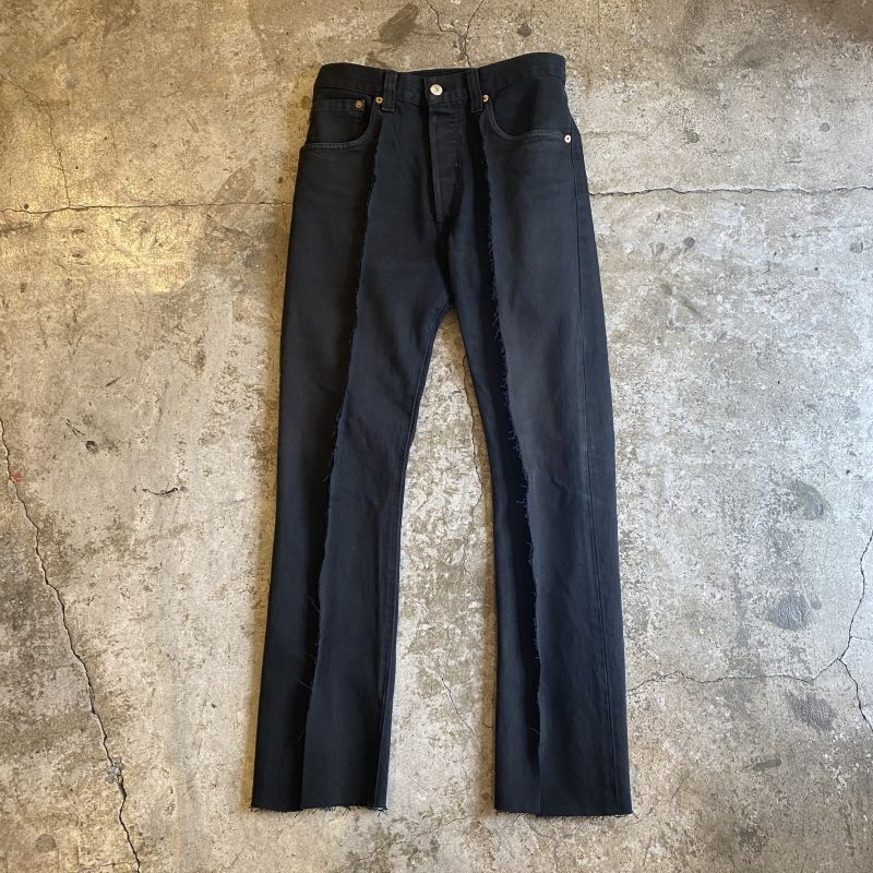 画像1: 【Wiz&Witch】FLARE CUT DENIM PANTS / W29 (1)
