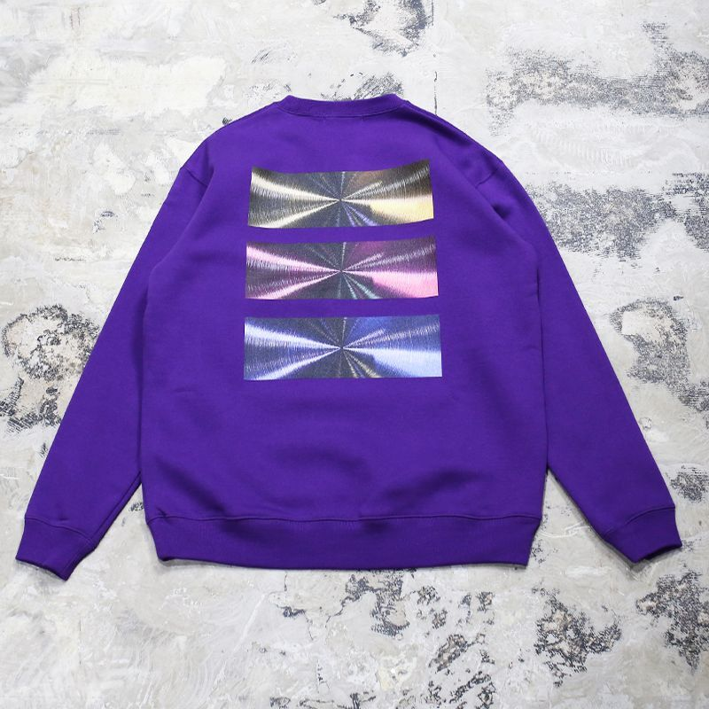 "画像1: 【DISRAW】""diffusion"" SWEAT SHIRT / PURPLE (1)"