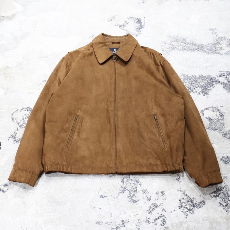 画像1: FAUX SUEDE SPORT JACKET / Mens L (1)