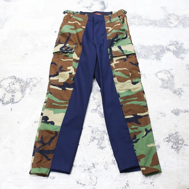 "画像1: 【Wiz&Witch】""UNITED"" U.S CAMO BLACK CARGO PANTS / W30 (1)"