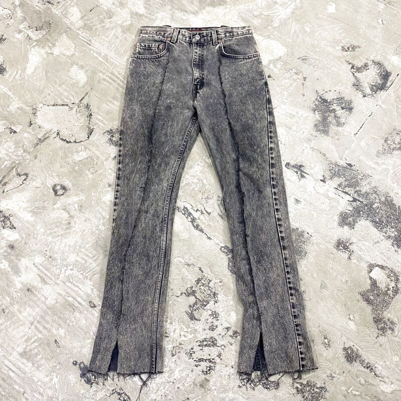 画像1: 【Wiz&Witch】FLARE CUT DENIM PANTS / W30 (1)