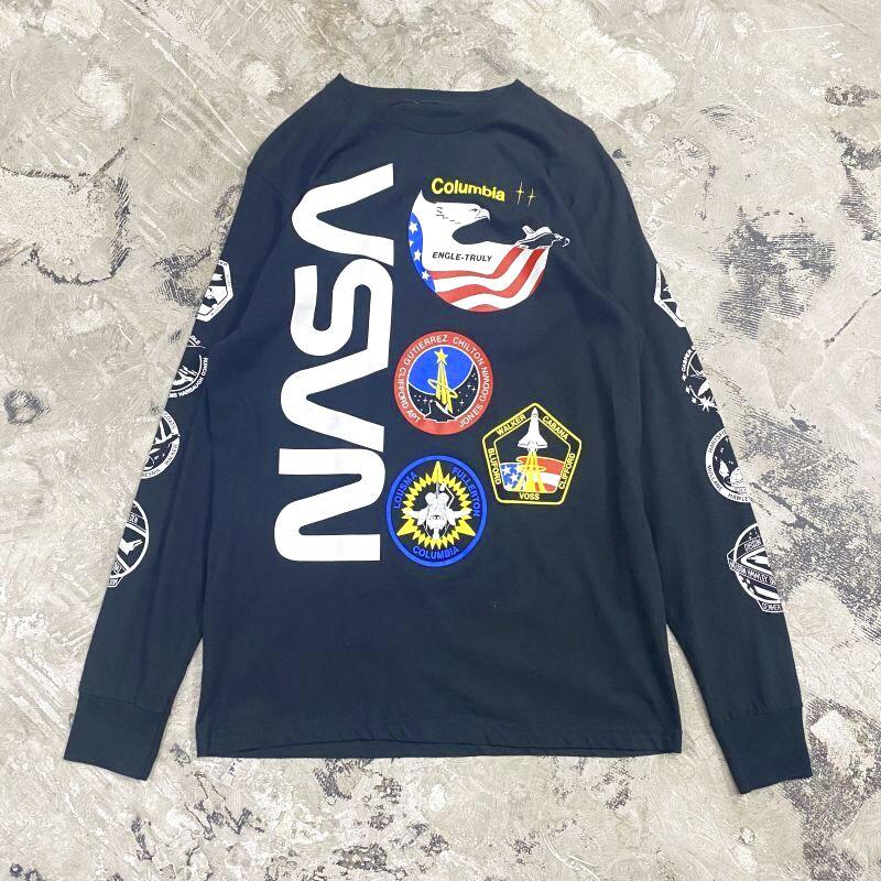 "画像1: ""NASA"" EMBLEM PATTERN L/S TEE / Mens L (1)"