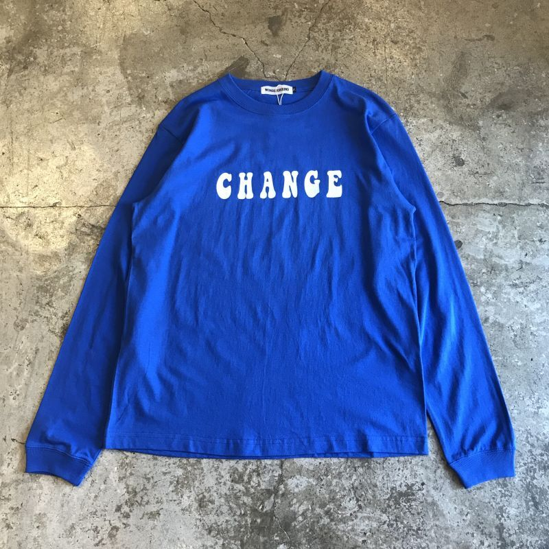 "画像1: 【WONDERGROUND】""CHANGE"" LOGO PRINT COLOR  L/S TEE / M (1)"