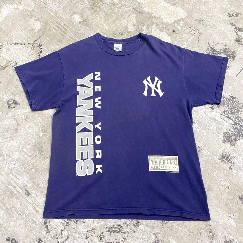 """画像1: """"NEW YORK YANKEES"""" LOGO PRINT TEE / Mens L (1)"""