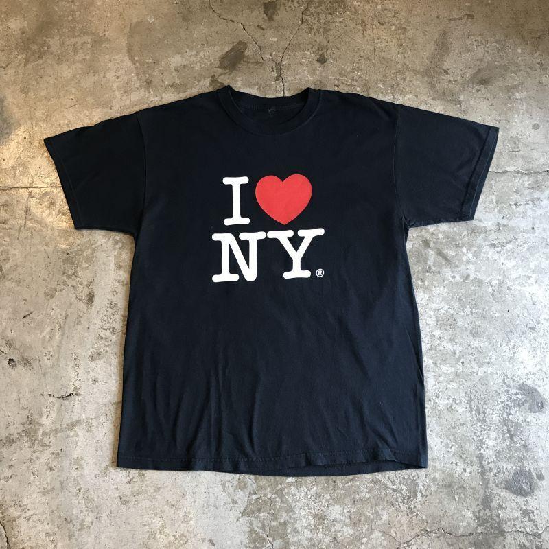 """画像1: """"I LOVE NY"""" LOGO PRINTED S/S TEE / Ladies L (1)"""