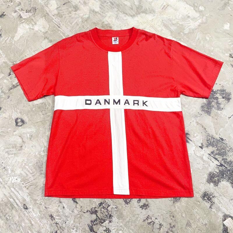 """画像1: """"DANMARK"""" NATIONAL FLAG S/S TEE / Mens XXL (1)"""