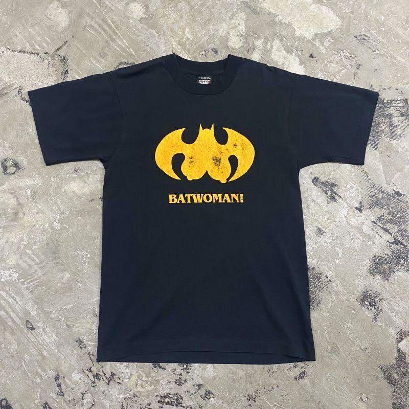 """画像1: 90's """"BATWOMAN!"""" PARODY S/S TEE / Mens M / MADE IN USA (1)"""