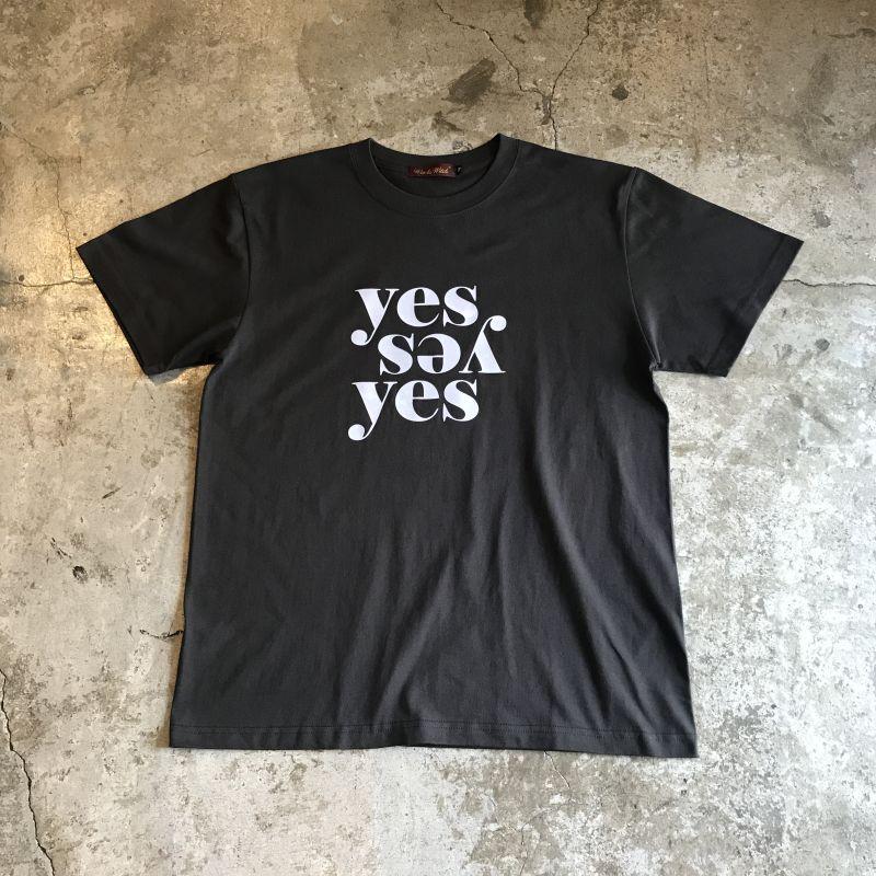 "画像1: 【Wiz&Witch】""Yes"" FLOCKY PRINT TEE / BLACK×WHITE (1)"