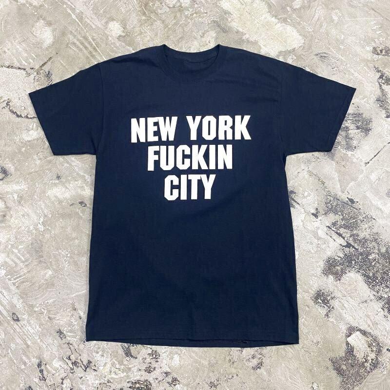 """画像1: """"NEW YORK FUCKIN CITY"""" LOGO S/S TEE / Mens L (1)"""
