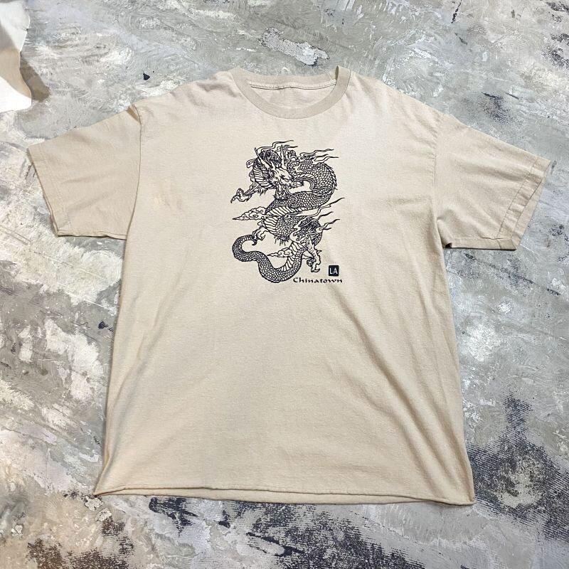 画像1: CHINATOWN LA DRAGON PRINTED S/S TEE / Mens L (1)